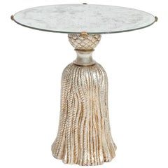 Tassel Accent Table with Mirrored Top by Palladio