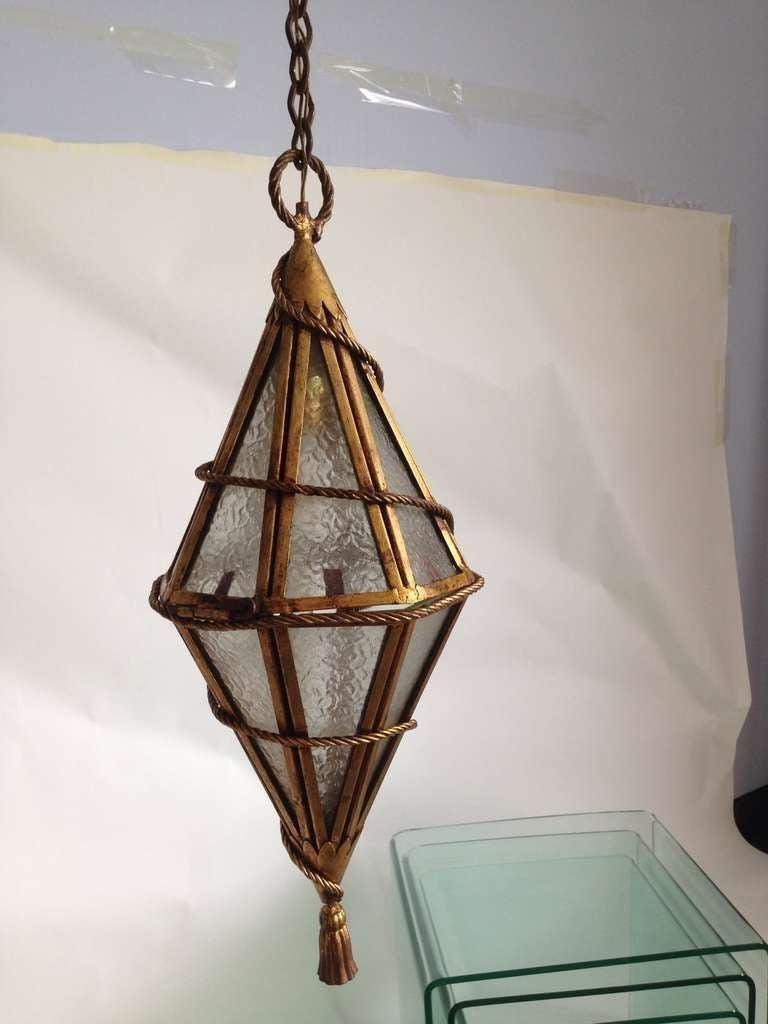 Italian Tassled Venetian Hanging Lantern For Sale
