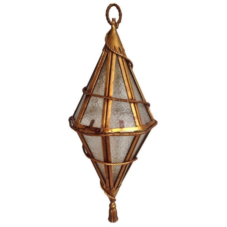 Tassled Venetian Hanging Lantern For Sale