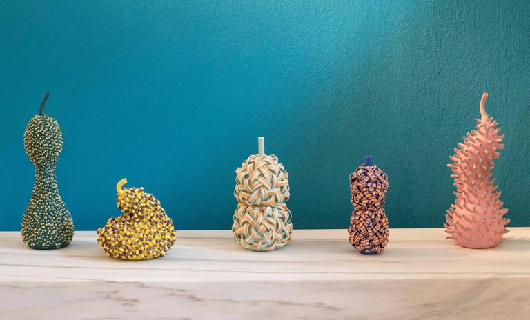 Tasty Collection Yellow Jelly Porcelain Vase Special Edition In New Condition For Sale In Firenze, IT