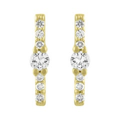 TATE Brillance 18 Karat Yellow Gold Earring .12 Carat Diamond Stud