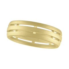 TATE Fence Band 18 Karat Green Gold Ring