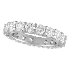 TATE Forever Matte Platinum Band 3.44 Carat Diamond Wedding Ring