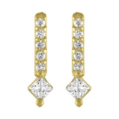 TATE Gleam 18 Karat Yellow Gold Earring .11 Carat Diamond Stud