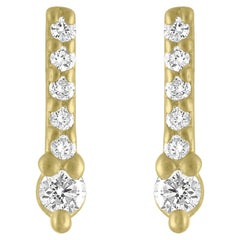TATE Sparkle 18 Karat Yellow Gold Earrings .10 Carat Diamond Stud