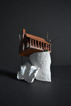 """Everything is Waiting"", Tatiana Flis, miniature, landscape, sculpture, house"