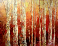 FOX RUNNING FREE, Painting, Acrylic on Canvas