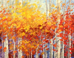SUNNY SIDE OF FALL, Painting, Acrylic on Canvas