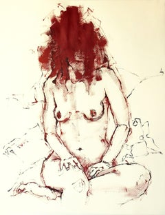 Nude, Painting, Acrylic on Paper