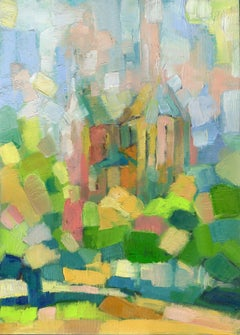 Old Chirch, Painting, Oil on Canvas