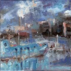 Port Van Gogh, Asnières-sur-Seine, Painting, Oil on Canvas