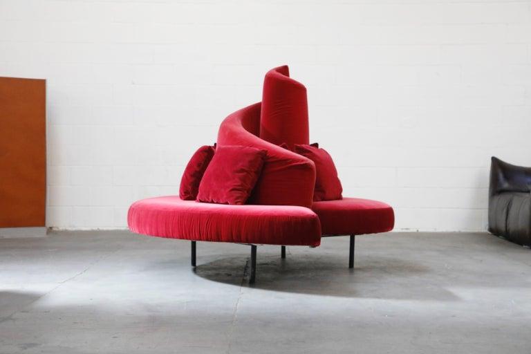 American 'Tatlin' Center Round Sofa by Mario Cananzi and Roberto Semprini for Edra, 2002