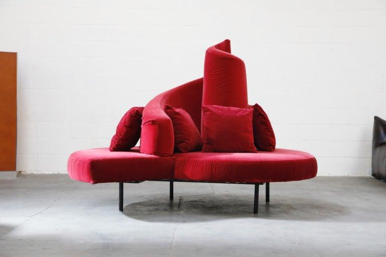 'Tatlin' Center Round Sofa by Mario Cananzi and Roberto Semprini for Edra, 2002 In Good Condition In Los Angeles, CA