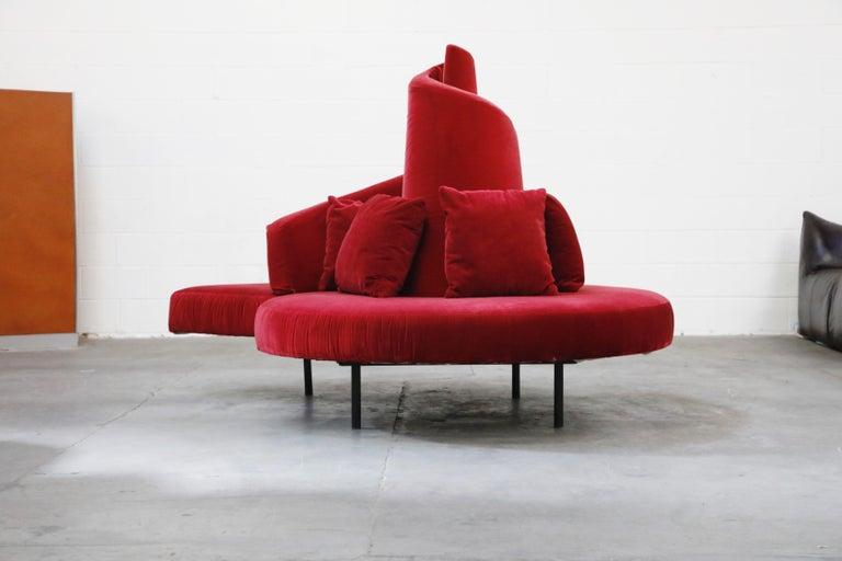 Contemporary 'Tatlin' Center Round Sofa by Mario Cananzi and Roberto Semprini for Edra, 2002