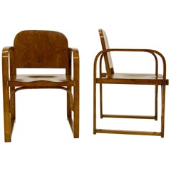 Tatra Armchairs, Model A 745 F, 1930s, Set of Two