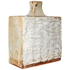 Tatsuzo Shimaoka Fishnet Textured Japanese Flask