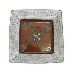 Tatsuzo Shimaoka Japanese Glazed Stoneware Tray