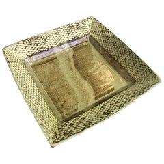 Tatsuzo Shimaoka Large Japanese Glazed Rope Inlay Ceramic Pottery Bowl Dish