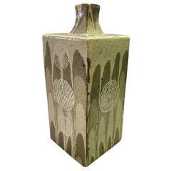 Tatsuzo Shimaoka Signed Monumental Japanese Drip Glazed Pottery Ceramic Vase