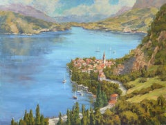 Lake Como Dream, Painting, Oil on Canvas