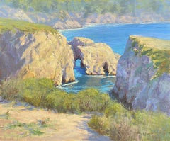 Point Lobos Arches Reflections, Painting, Oil on Canvas