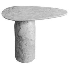 Taula White Marble Large Side Table