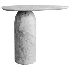 Taula White Marble Small Side Table