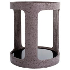 Taupe Concrete Open Bar Side Table by Oso Industries
