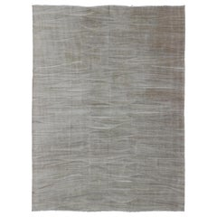 Taupe, Cream All-Over Design Neutral Modern Kilim