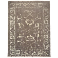 """Taupe """"Erased"""" Style Area Rug"""