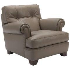 Taupe Leather Armchair, Poltrona Frau