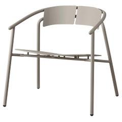 Taupe Minimalist Lounge Chair