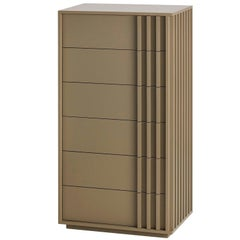 Taupe Relevo Tallboy with Six Drawers