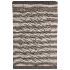 Taurus Collection Handmade of the Finest Goat Hair in Beige and Brown Stripes