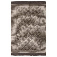 Taurus Collection Handmade of the Finest Goat Hair in Beige & Brown Stripes