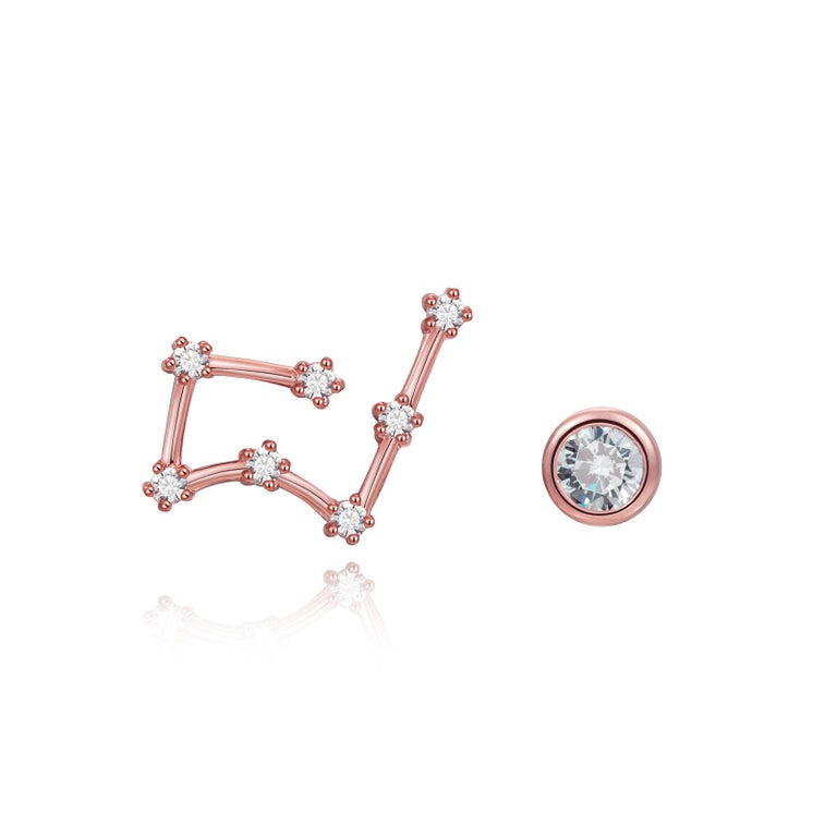 You are unique and your zodiac tells part of your story.  How your zodiac is displayed in the beautiful nighttime sky is what we want you to carry with you always. These taurus constellation earrings share a part of your personality with us all.