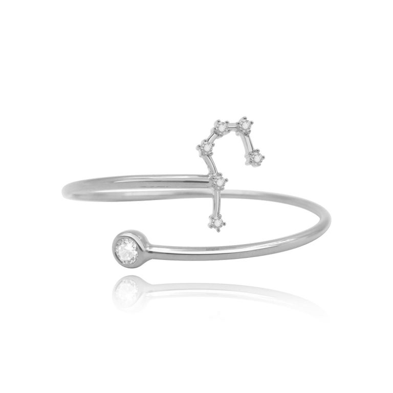 You are unique and your zodiac tells part of your story.  How your zodiac is displayed in the beautiful nighttime sky is what we want you to carry with you always. This taurus constellation wire bezel cuff shares a part of your personality with us