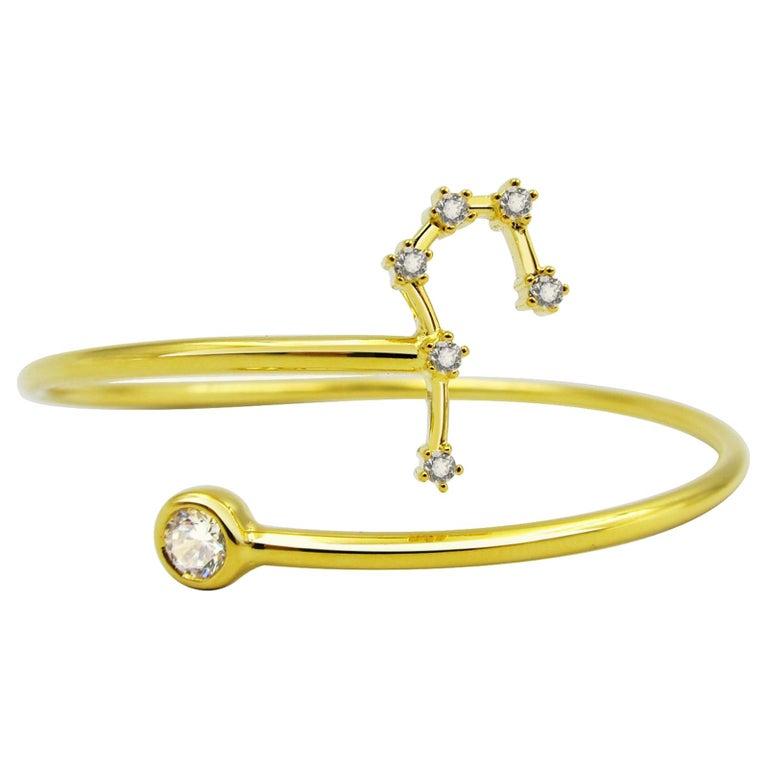Taurus Constellation Wire Bezel Cuff For Sale