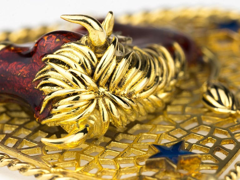 Taurus Zodiac Pendant by Frascarolo For Sale 1