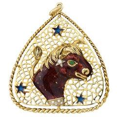 Taurus Zodiac Pendant by Frascarolo