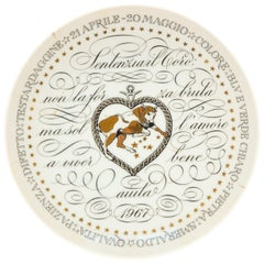 Taurus, Zodiac Plate Series by Piero Fornasetti, 1967