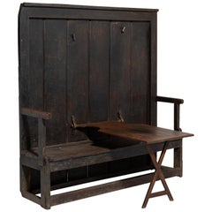Tavern Settle with Table, England, 19th Century