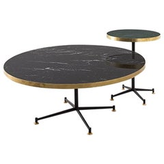 Tavolo Basso 052 Marble Low Table with Metal and Brass Structure by Dimoremilano