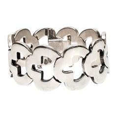 Taxco Mexico Antonio Pineda 970 Silver Keyhole Link Bracelet