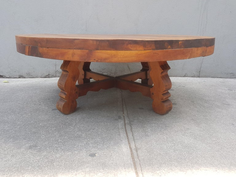 Peachy Taxco Mexico Colonial Style Sabino Wood Coffee Table At 1Stdibs Bralicious Painted Fabric Chair Ideas Braliciousco