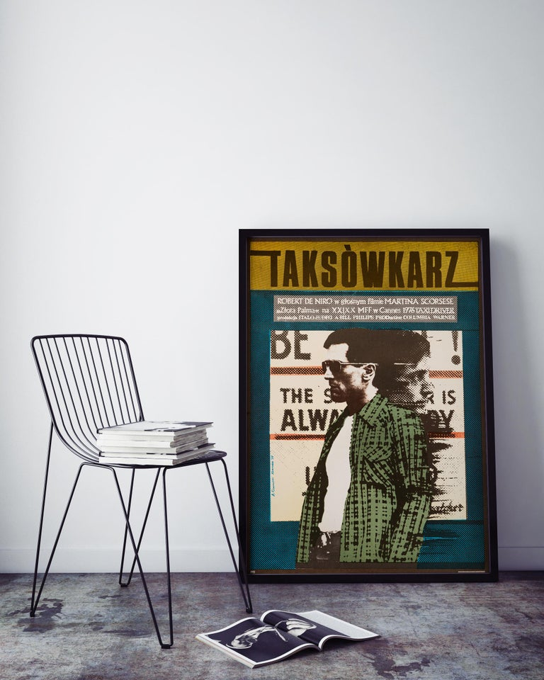 Post-Modern 'Taxi Driver' Original Vintage Movie Poster by Andrzej Klimowski, Polish, 1978 For Sale
