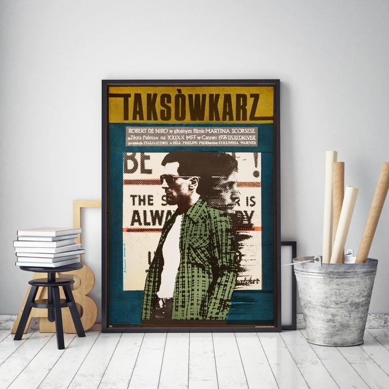 'Taxi Driver' Original Vintage Movie Poster by Andrzej Klimowski, Polish, 1978 In Good Condition For Sale In Devon, GB