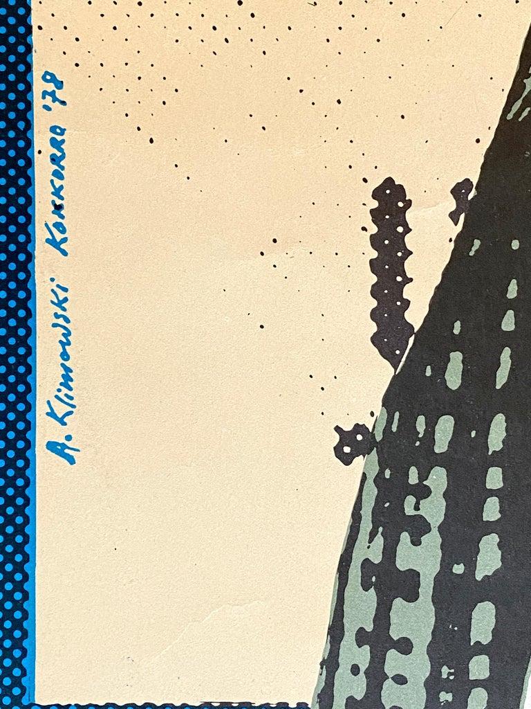 'Taxi Driver' Original Vintage Movie Poster by Andrzej Klimowski, Polish, 1978 For Sale 3