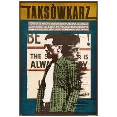 'Taxi Driver' Original Vintage Movie Poster by Andrzej Klimowski, Polish, 1978