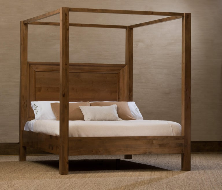 Modularity is the inspiration behind the Taylor bed, designed to change with time and personal taste. Switch out the back of the headboard from upholstery to wood, or from stone to a new fabric, depending on the season or your mood.  Alder,